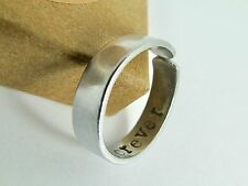 Aluminium Cuff Ring Hand Stamped Personalised Message Boyfriend Girlfriend