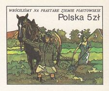 POLAND 1985 MINT Postcard Cp#913  We went back to the ancient lands of Piast
