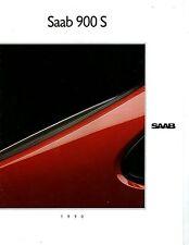 1990 Saab 900S Brochure my6343