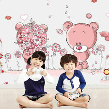 Pink Bear Wall Sticker Removable Nursery Girl Baby Children Bedroom Art Decal