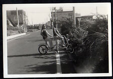 1960's TANDEM Stingray Style BICYCLE Mod Girls Hippy Chicks ORIGINAL PHOTOGRAPH