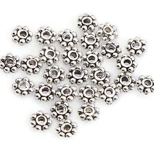 300 Pcs Antique Silver/Golden/Bronze Metal Daisy Flower Shaped Spacer Bead 6mm