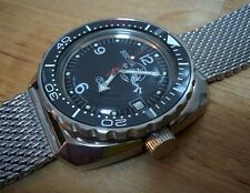 Black Ceramic insert -  Toothed Type Stainless Steel Bezel to Vostok  Amphibian