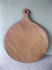 "Antique Dough Board 16-1/2"" Round 1-Board w/Handle Primitive Pie Bread Pine Wood"
