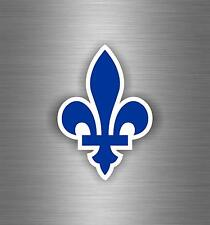 Sticker car moto motorcycle quebec leaf fleur de lis lys flower flag canada