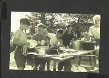 Nostalgia Postcard 13 year olds  Boys  Scouts camping Holiday 1949