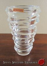 Heavy Vintage Nachtmann Riedel Germany Contemporary Art Deco Style Crystal Vase