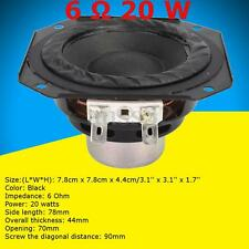 3'' 20W 6 Ohm Full-range Speaker Audio Loudspeaker  Neodymium Magnet Long Stroke