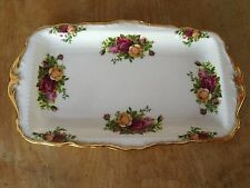 "Vtg ROYAL ALBERT 1962 ENGLAND ""OLD COUNTRY ROSES SANDWICH TRAY"