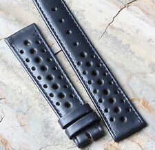 Blue 19mm original vintage 1960s/70s racing strap vintage watch rally band NOS