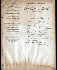 """AUZANCES (23) MATERIAUX de CONSTRUCTION """"BICHON & MOREL"""" en 1907"""