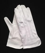 """White Cotton Gloves Slip-On """"Sure Grip"""" Large (Dozen)"""