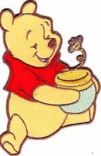DISNEY - WINNIE THE POOH w/HONEY POT/Simplicity Iron On Patch/Cartoon,TV, Movies