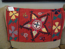 NEW Pottery Barn Red Star Suzani Embroidered Pillow Cover 16 x 26 SEVERAL AVAIL