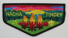 OA Lodge 25 Nacha Tindey S21 Flap; FDL & 25; PB; RED in vert stitch sky;  [R591]