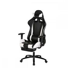 White Gaming Chair High-back Computer Chair Ergonomic Design Racing Chair RC1.