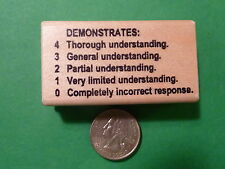 Demonstrates 43210  - Teacher's Wood Mounted Rubber Stamp
