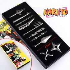 Anime Naruto Kakashi Uzumaki Weapon Cosplay Pendant Collection 10pcs New