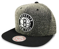 NBA Mitchell & Ness Brooklyn Nets Static Grey Snapback Cap - New - One size