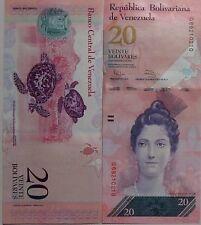"""BILLETE """"  VENEZUELA   """"  20  BOLIVARES    AÑO : 2011  UNC    PLANCHA"""