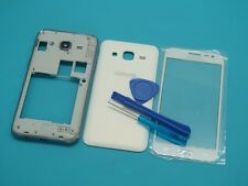 For Samsung Galaxy J2 SM-J200 white Housing Battery Cover+Screen Lens Glass