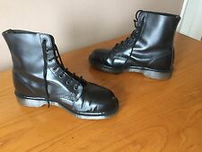 Vintage Dr Martens 101 Black leather boots UK 8 EU 42 England skin mosh biker