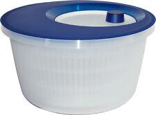 Emsa Salatschleuder Transluzent Blau/Weiß 4L als Seiher verwendbar Salatschüssel