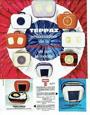 PUBLICITE ADVERTISING 037  1964  Teppaz   le tourist transitradio élécttophone