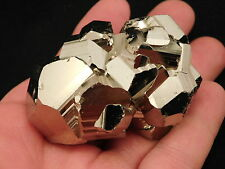 A Super Nice! AAA Rhombic PYRITE Crystal CLUSTER from Peru 228.5gr