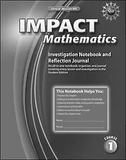 IMPACT Mathematics, Course 1, Investigation Notebook and Reflection Journal (ELC