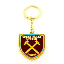 WEST HAM UNITED FC CREST METAL KEYRING KEY RING KEYCHAIN SOUVENIR NEW GIFT XMAS