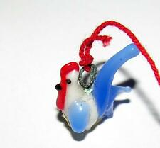 TEENY TINY MINIATURE BLOWN GLASS 1950'S CHICKEN VTG VENDING MACHINE CHARM, JAPAN