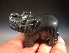 "2"" Gorgeous Natural Hematite Crystal Carving Elephant, Nice Gift"