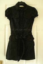 Miss Selfridge Vtg Gothic Dolly Shirt Tea Dress Emo Lolita Casual Cosplay UK8 S