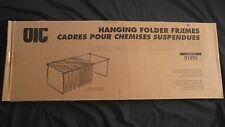 "Brand New OIC Hanging Metal Folder Frames Two Sets Letter Size 27"" Long 91993"