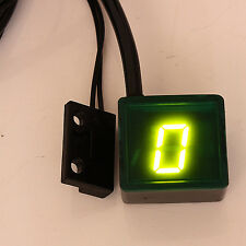 Universal Motorcycle Green LED Digital Display Gear Indicator Shift Lever Sensor