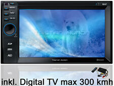 BLUETOOTH AUTORADIO 2 Din Doppel DVD USB MP3 Navigation DVB-TV Touchscreen