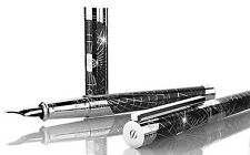 ST DUPONT SHOOT THE MOON PREMIUM FOUNTAIN PEN LIMITED EDITION PALL BLACK LACQUER