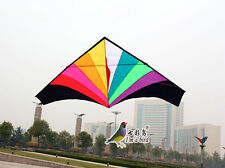 NEW 1.8m 5.9ft Rainbow Triangle Delta Kite Outdoor Fun Sports single line Toys