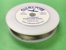 "Fly-By-Wire Control Line Airplane Wire 1000 Ft .015"" Bright 7 Strand 30 lb Test"