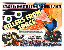 Framed Retro Movie Poster - Killers from Space 1954 (Replica Print Film Art)