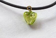 Pendentif Mini coeur en véritable verre de Murano .