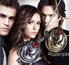 The Vampire Diaries Elena Nina Verbena Pendant Necklace Antique Silver Grey