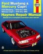 Mustang Capri Fox body Repair Manual NEW 79-93 Owners Book Shop Service