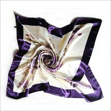 NEW Turkish Style Floral Scarf Wrap High Quality Silk Satin Square Hijab colors