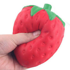 Squishy Strawberry Cream Scented Toy Cell Phone Bag Key Pendant Charm 8cm*