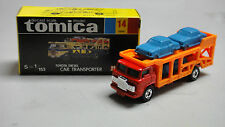 VINTAGE TOMICA 14 TOYOTA DIESEL CAR TRANSPORTER TRUCK MADE IN JAPAN