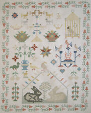 SWEET! COMPLETED DUTCH CROSS STITCH REPRODUCTION SAMPLER FINISHED NEEDLEWORK