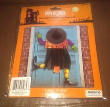 "Crashed Witch Door or Window Halloween Decoration 48"" tall"