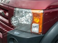 LAND ROVER LR3 DISCOVERY 3 FRONT CLEAR ACRYLIC HEADLAMP GUARDS PROTECTORS DA1286